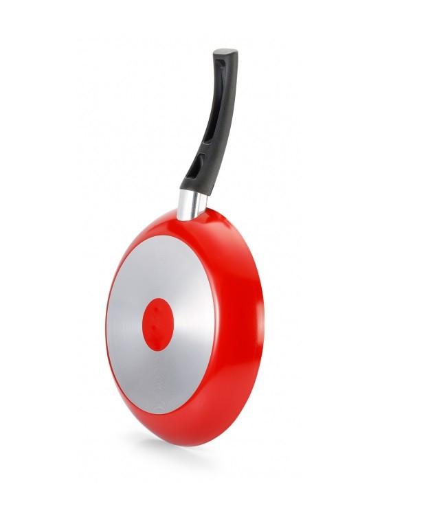 Frigideira Francesa antiaderente 24cm Vermelha Premium Panelux  - Mix Eletro