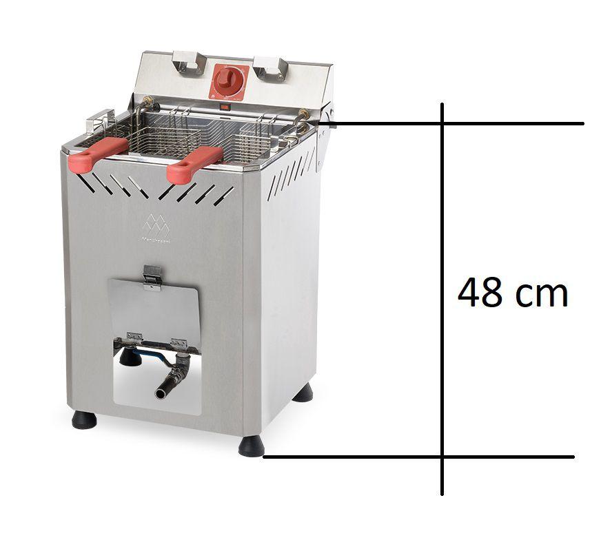 Fritadeira Elétrica profissional 18 litros água/óleo Bancada Marchesoni 220V  - Mix Eletro