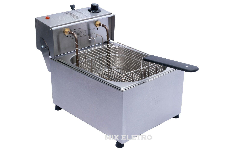 Fritadeira Elétrica Profissional em Aço Inox 1 Cuba 5 Litros EDANCA  - Mix Eletro