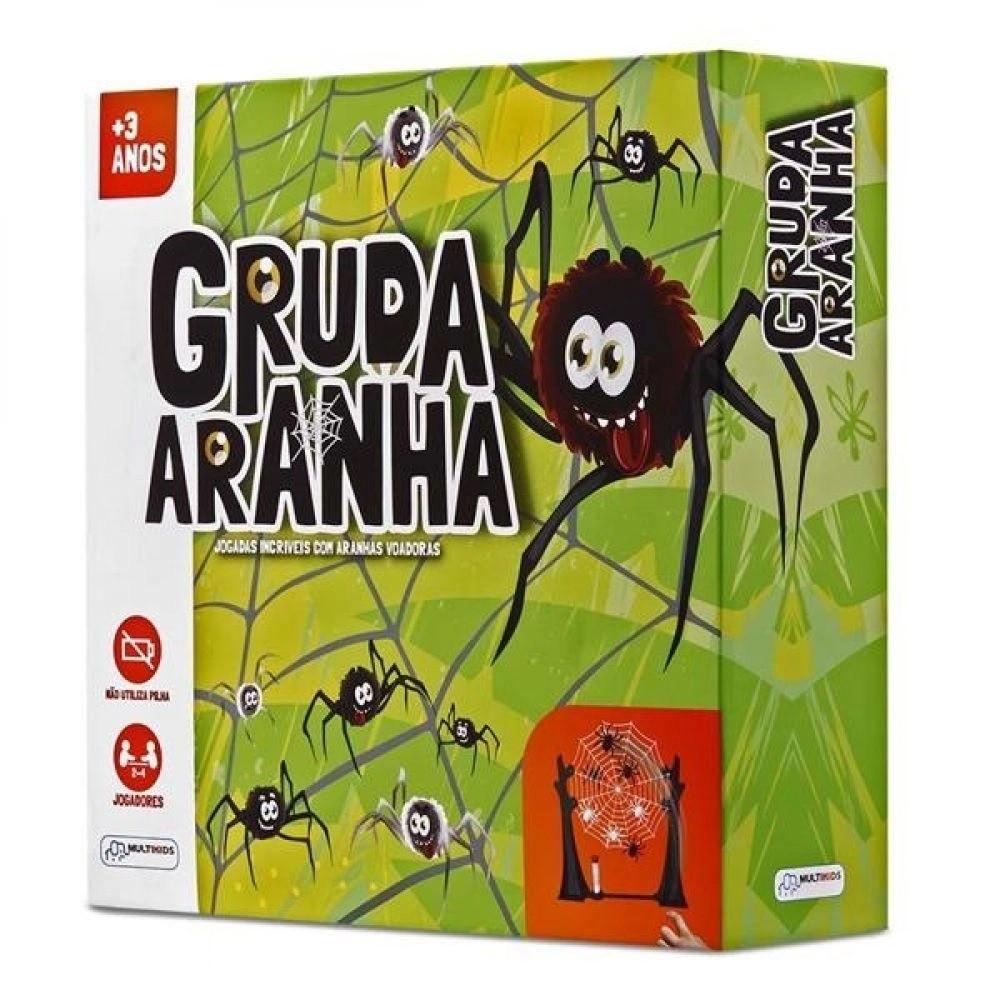 Jogo recreativo Gruda Aranha na Teia com 21 Peças Multikids BR600  - Mix Eletro