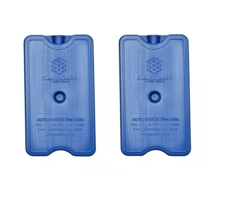 Kit 2 unidades Placa Gelo-x Gel Rígido Reutilizável 500ml 17x10x3cm Gelotech  - Mix Eletro