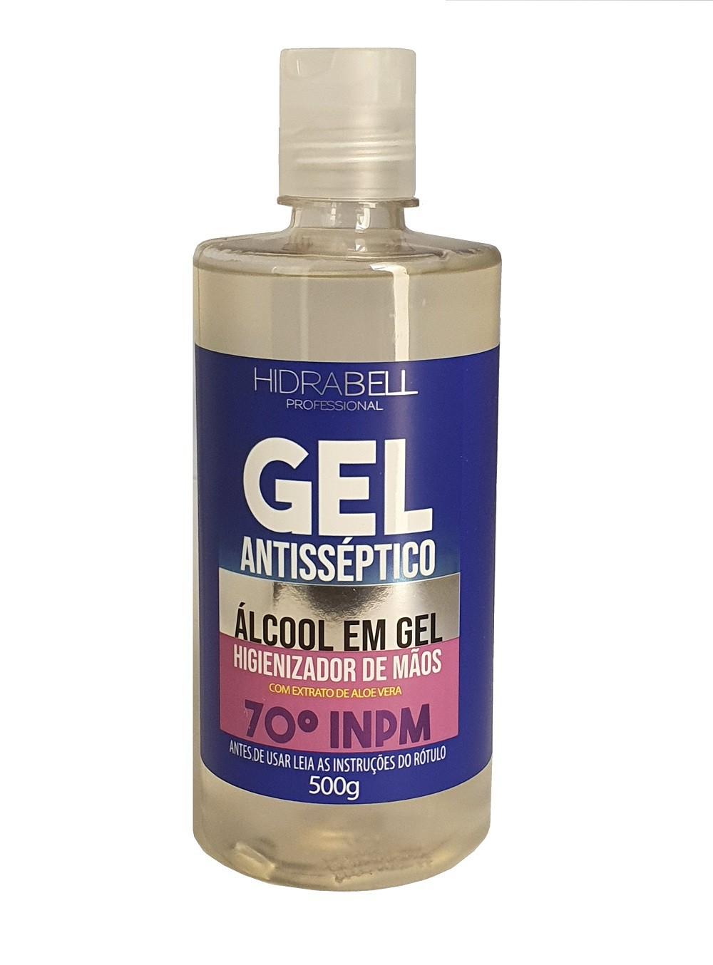 Kit com 5 Pulseiras dispenser em silicone + álcool gel 500g Hidrabell  - Mix Eletro