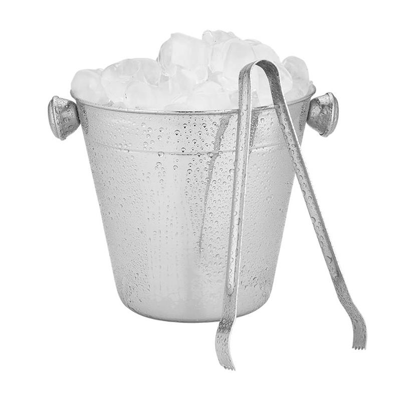 Kit coqueteleira 750ml e balde de gelo 12cm 950ml com pegador aço inox  - Mix Eletro