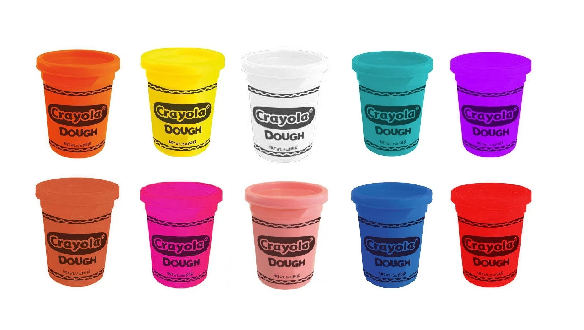 Kit Massa de Modelar Crayola 10 cores Multikids 10 potes de 56g  - Mix Eletro