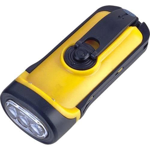 Lanterna recarregável dínamo a prova d'água 3 Leds 50 lúmens Dyno Nautika  - Mix Eletro