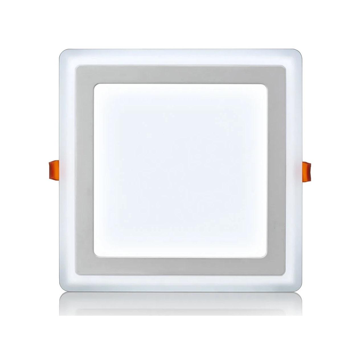 Luminária led de Embutir 18W 3 estágios quadrada 6W+12W 6500K Fria Elgin  - Mix Eletro