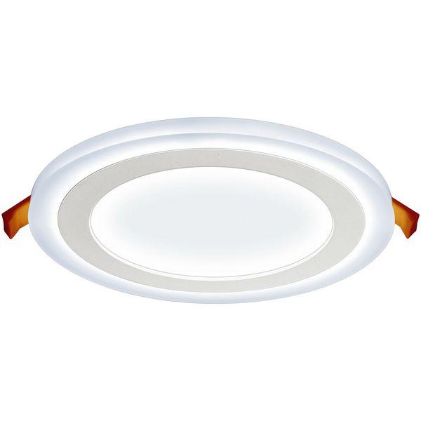 Luminária Led de embutir redonda 24W 3 estágios 6W+18W 3000K morna Elgin  - Mix Eletro