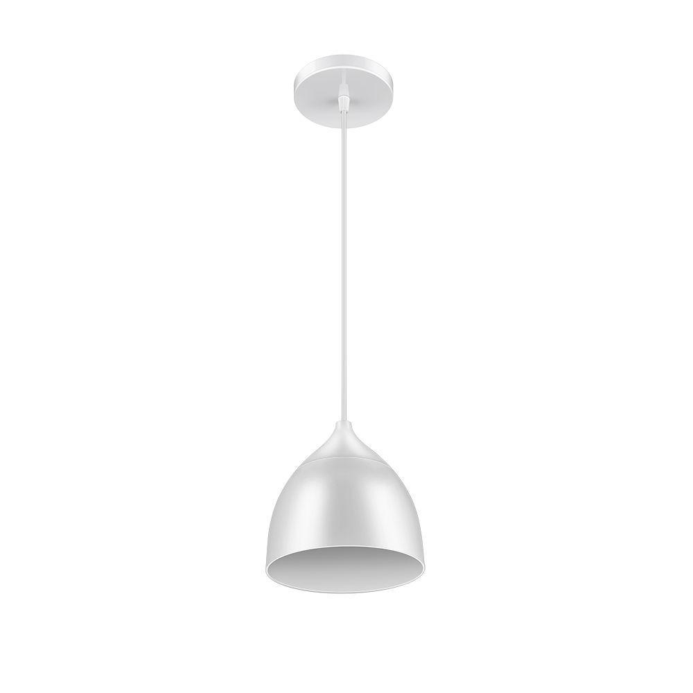 Luminária LED Pendente 9w 6500k Branco Elgin kit 2pçs  - Mix Eletro