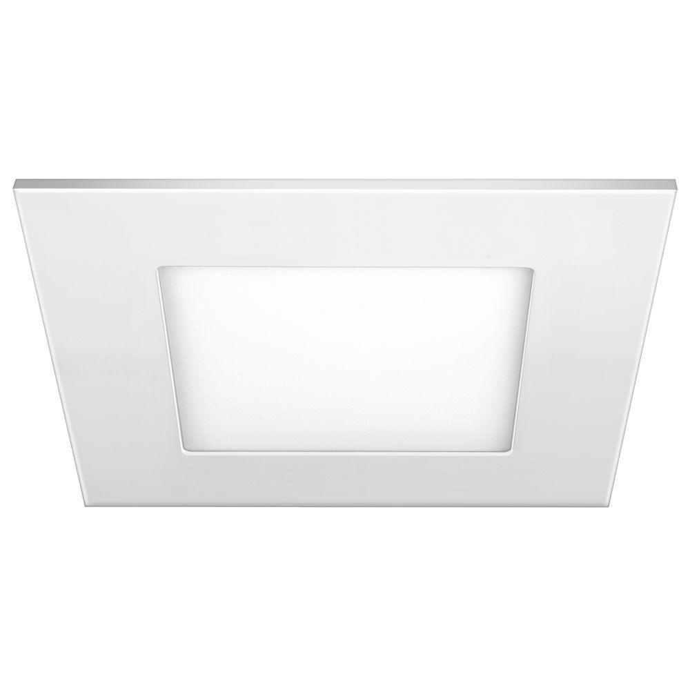 Luminária painel Led de embutir quadrada 6W 6500K Fria bivolt Elgin  - Mix Eletro
