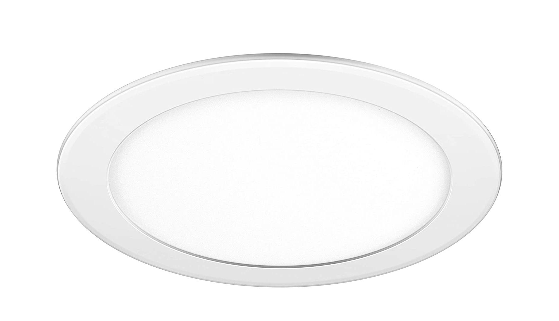 Luminária painel Led de embutir redonda 12W 6500K Fria bivolt Elgin  - Mix Eletro