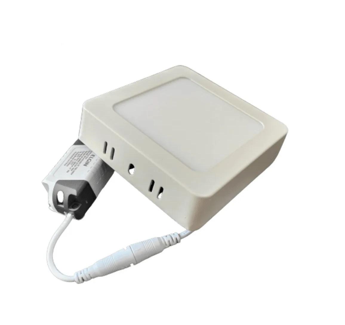 Luminária painel Led de sobrepor quadrado 6W 6500K Fria bivolt Elgin  - Mix Eletro