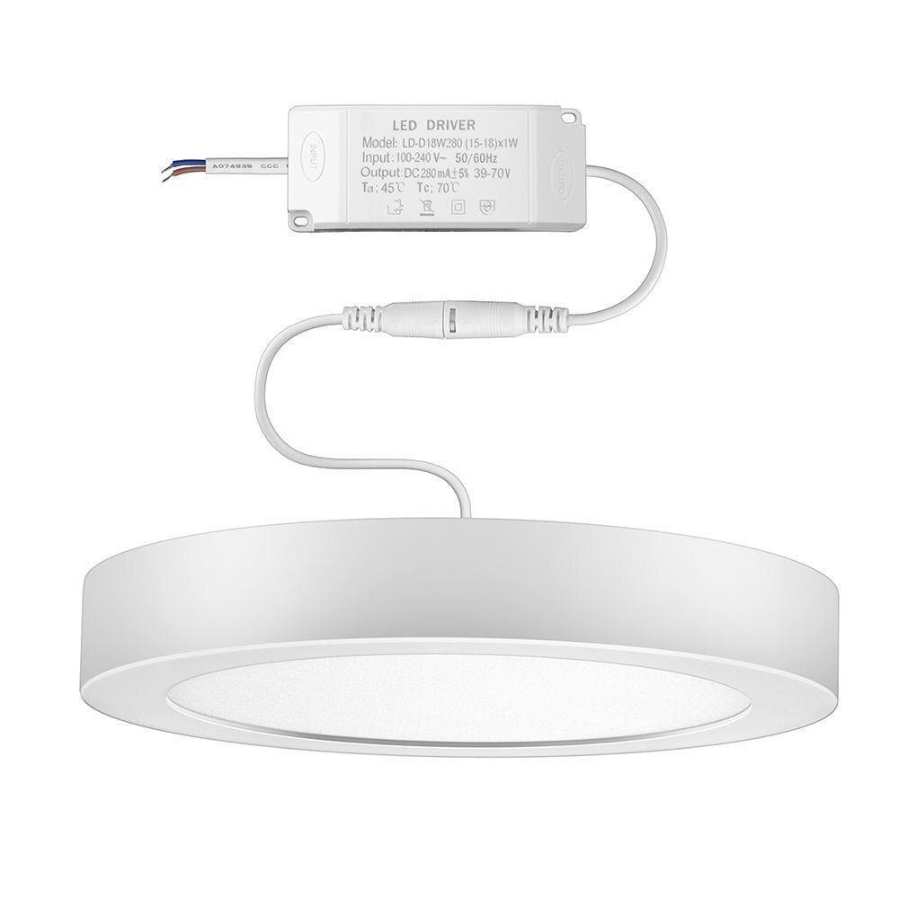 Luminária painel Led de sobrepor redonda 18W 6500K Fria bivolt Elgin  - Mix Eletro