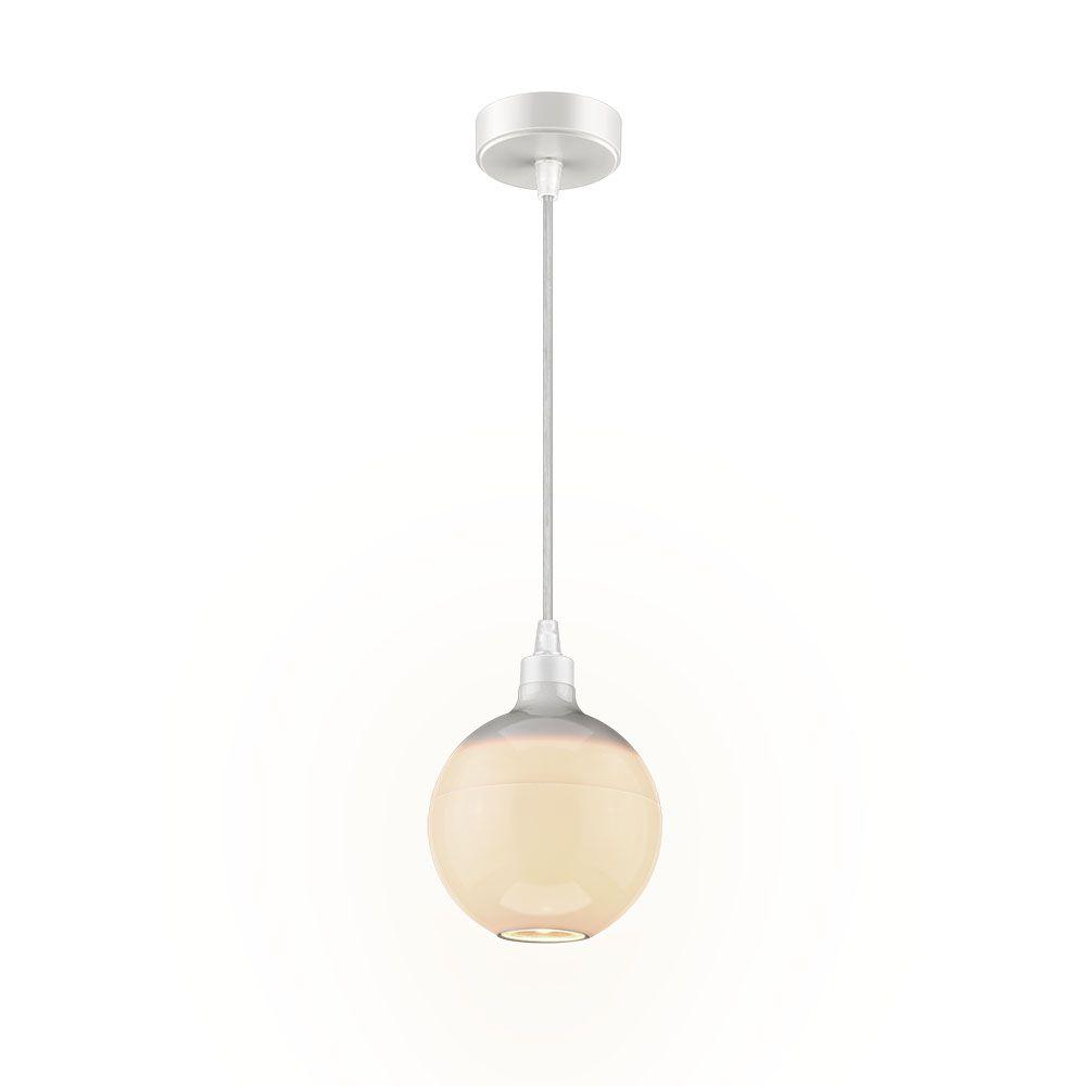 Luminária pendente LED Globo 3 Estágios luz quente 2700K 10W Elgin kit 2 pçs  - Mix Eletro