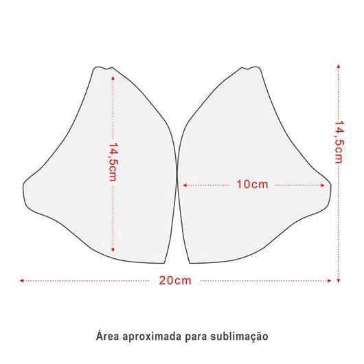 Máscara De Proteção lavável poliéster 200g/m2 leve e resistente Branca 10 unidades  - Mix Eletro