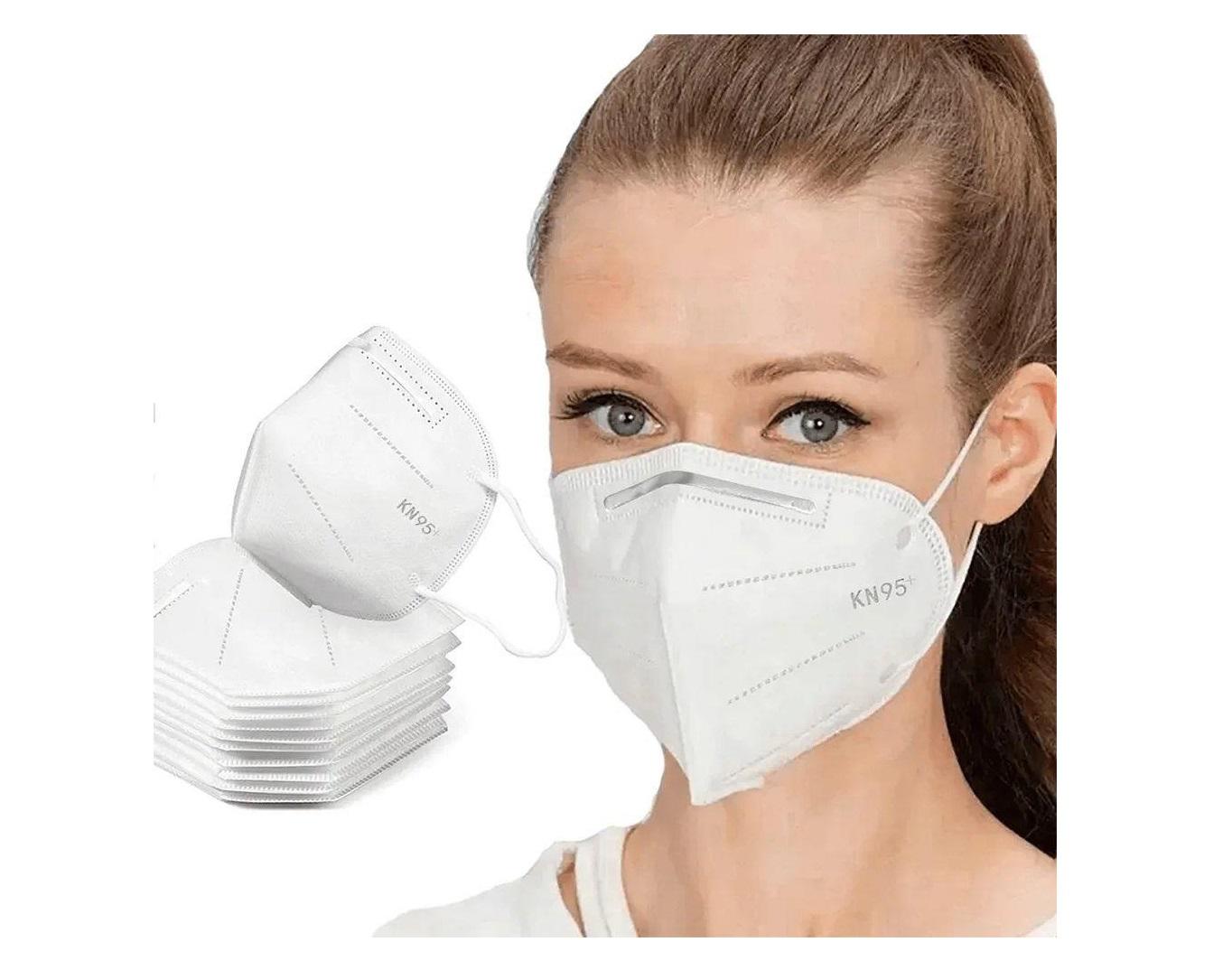 Máscara descartável Proteção Respiratória Facial KN95 4 camadas C/ Elástico e Clip Nasal Kit 10 Und.  - Mix Eletro
