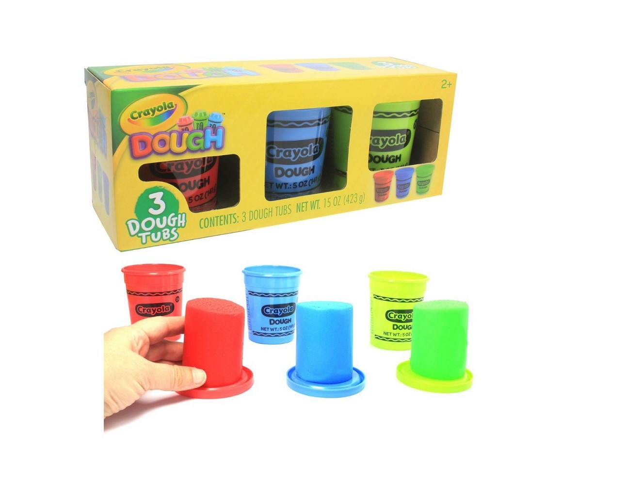 Massa de Modelar Crayola 423 gramas 3 cores Multikids BR1008  - Mix Eletro