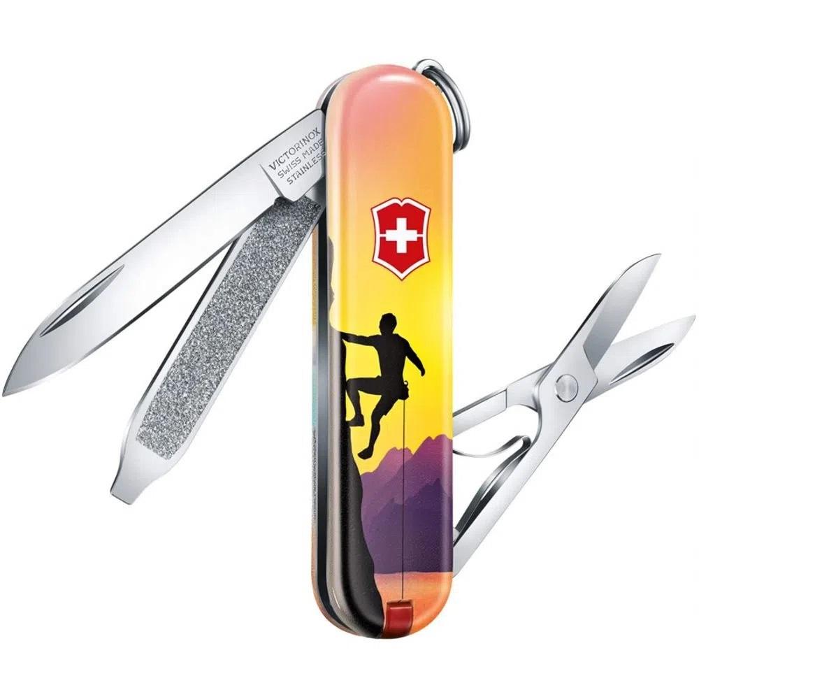 Mini Canivete Suíço Classic Victorinox 7 funções Edição especial 2020 Climb High  - Mix Eletro