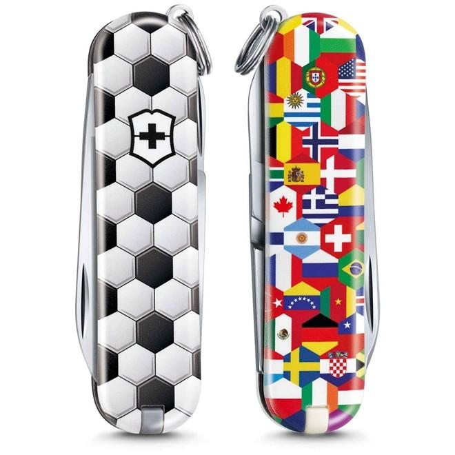 Mini Canivete Suíço Classic Victorinox 7 funções Edição especial 2020 World of Soccer  - Mix Eletro