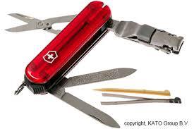 Mini Canivete Suíço Nail Clip Vermelho 65 mm 8 funções Original.  - Mix Eletro