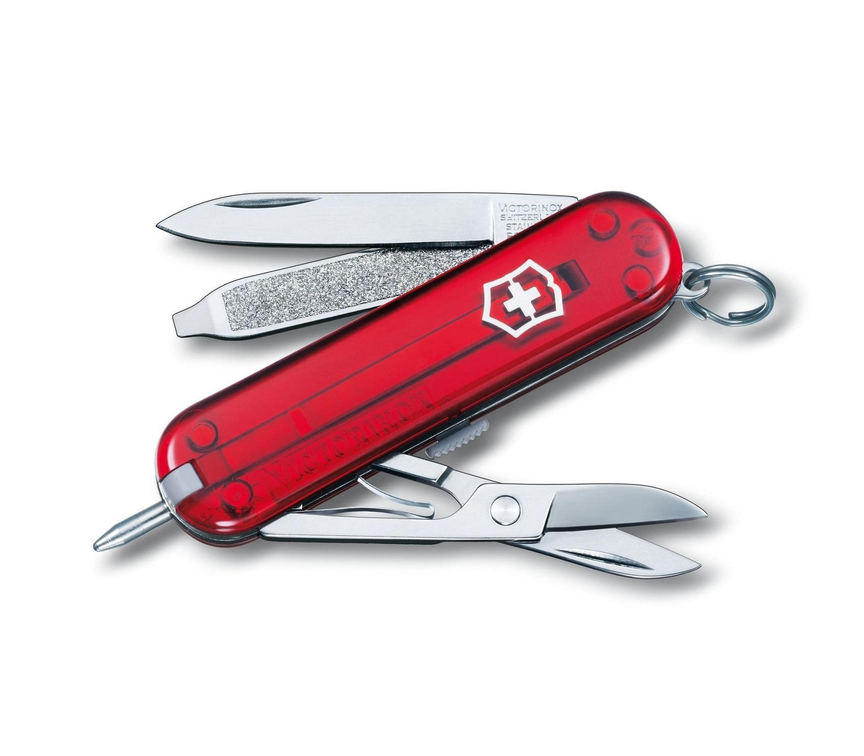 Mini Canivete Suíço Signature Lite Victorinox com caneta e lanterna 7 funções  - Mix Eletro