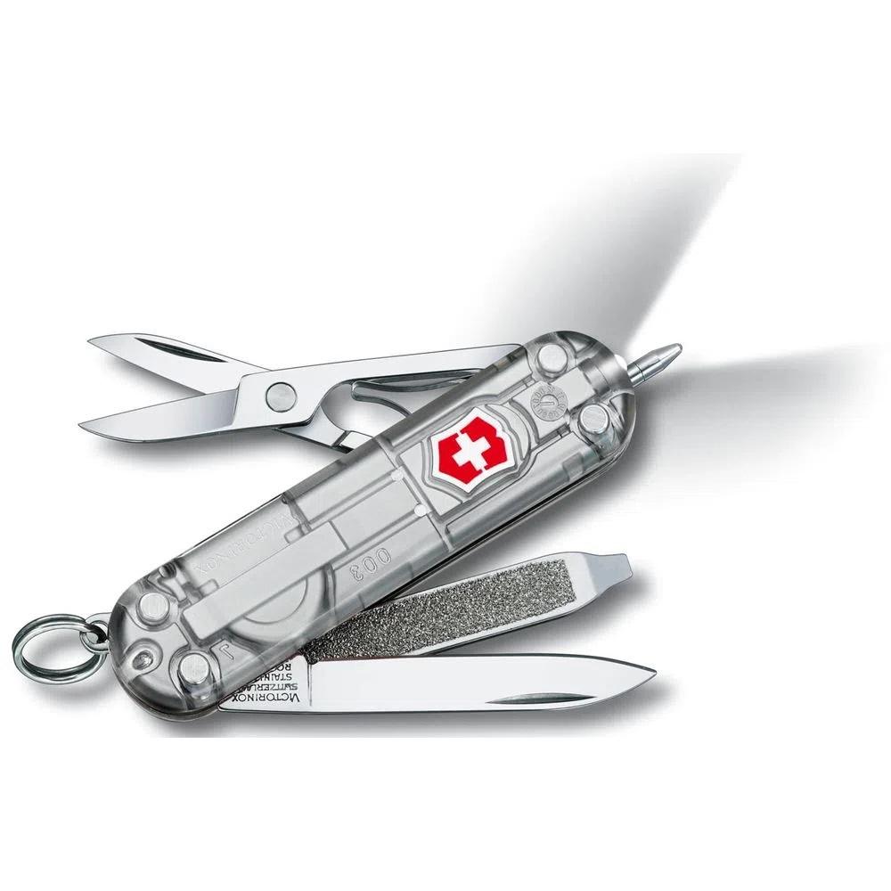 Mini Canivete Suíço Signature Lite Victorinox Silvetech caneta e lanterna 7 funções  - Mix Eletro