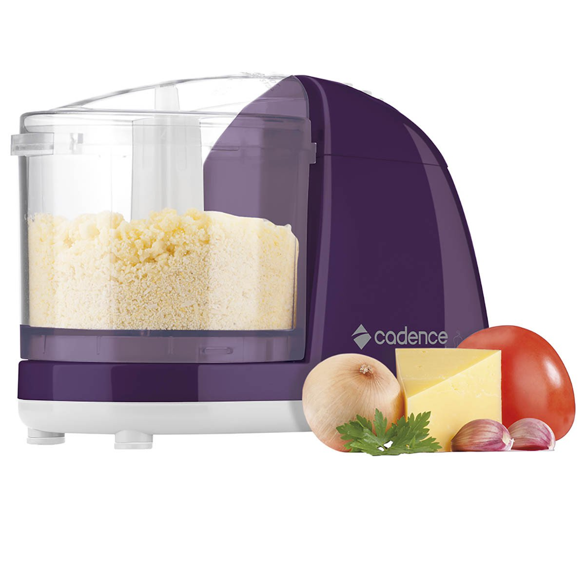 Mini Processador de Alimentos Cadence Easy Cut Colors MPR512 100W Roxo 220V - Mix Eletro