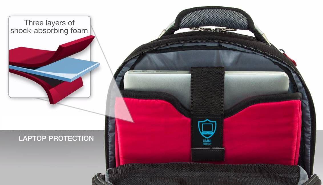 """Mochila para notebook 16"""" e tablet Reforçada Synergy Wenger 600635  - Mix Eletro"""