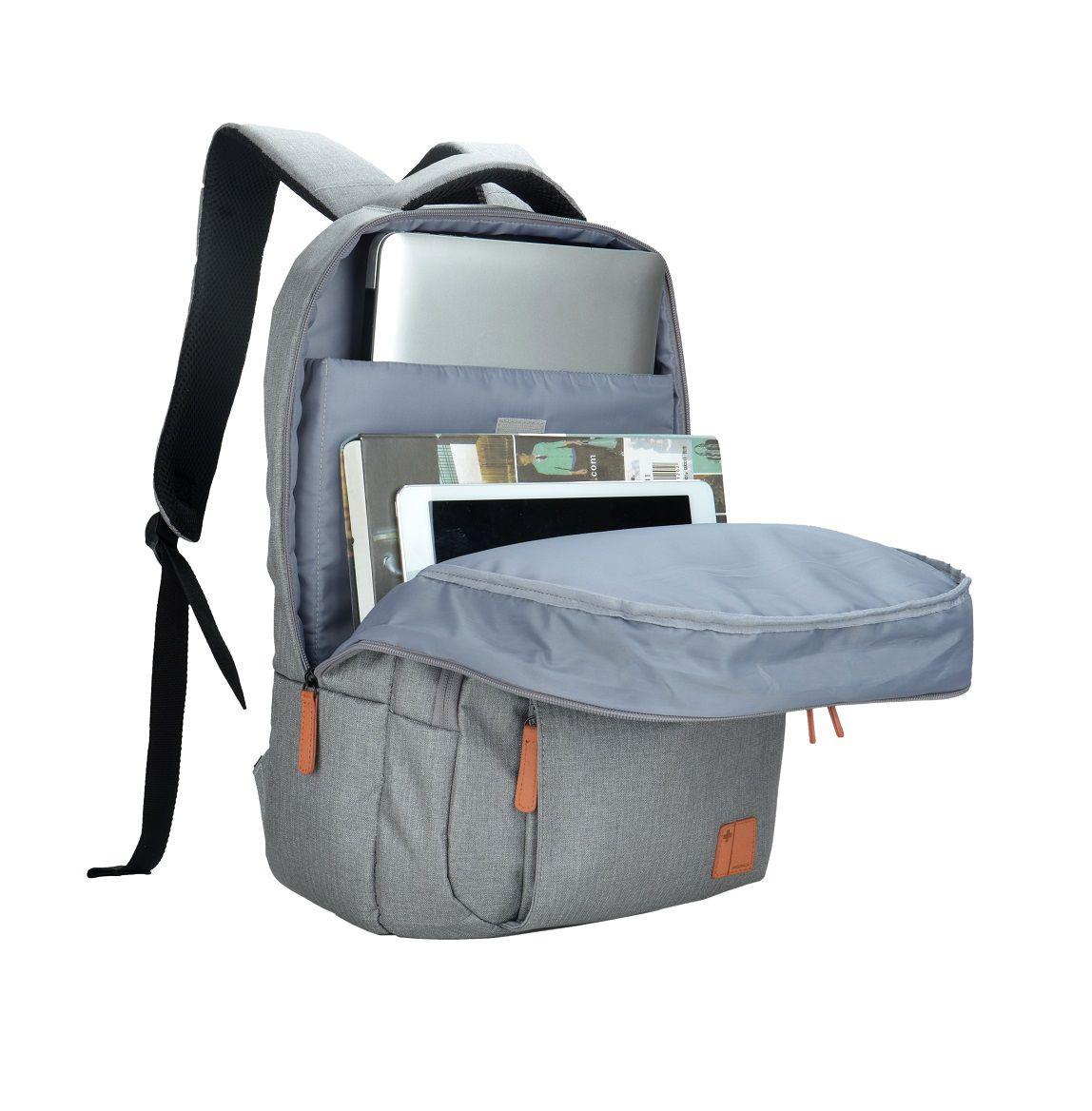 "Mochila Swisspack City Cinza Notebook 15.6"" Multilaser BO418  - Mix Eletro"