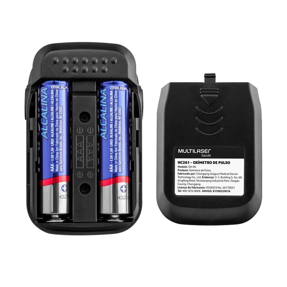 Oxímetro de Pulso OX-06 pulsação e oxigenação Oled Multilaser HC261  - Mix Eletro