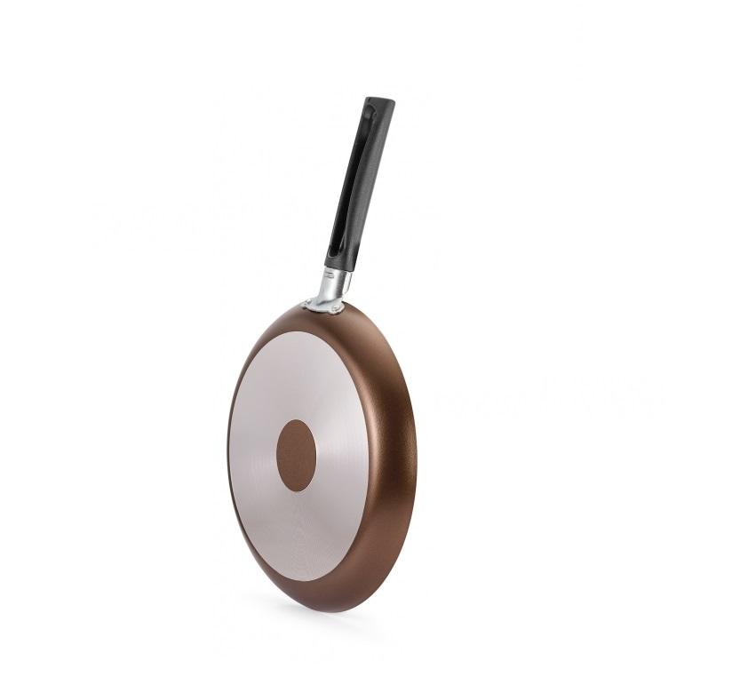 Panquequeira Tapioqueira Antiaderente 22cm Premium Marrom Panelux  - Mix Eletro