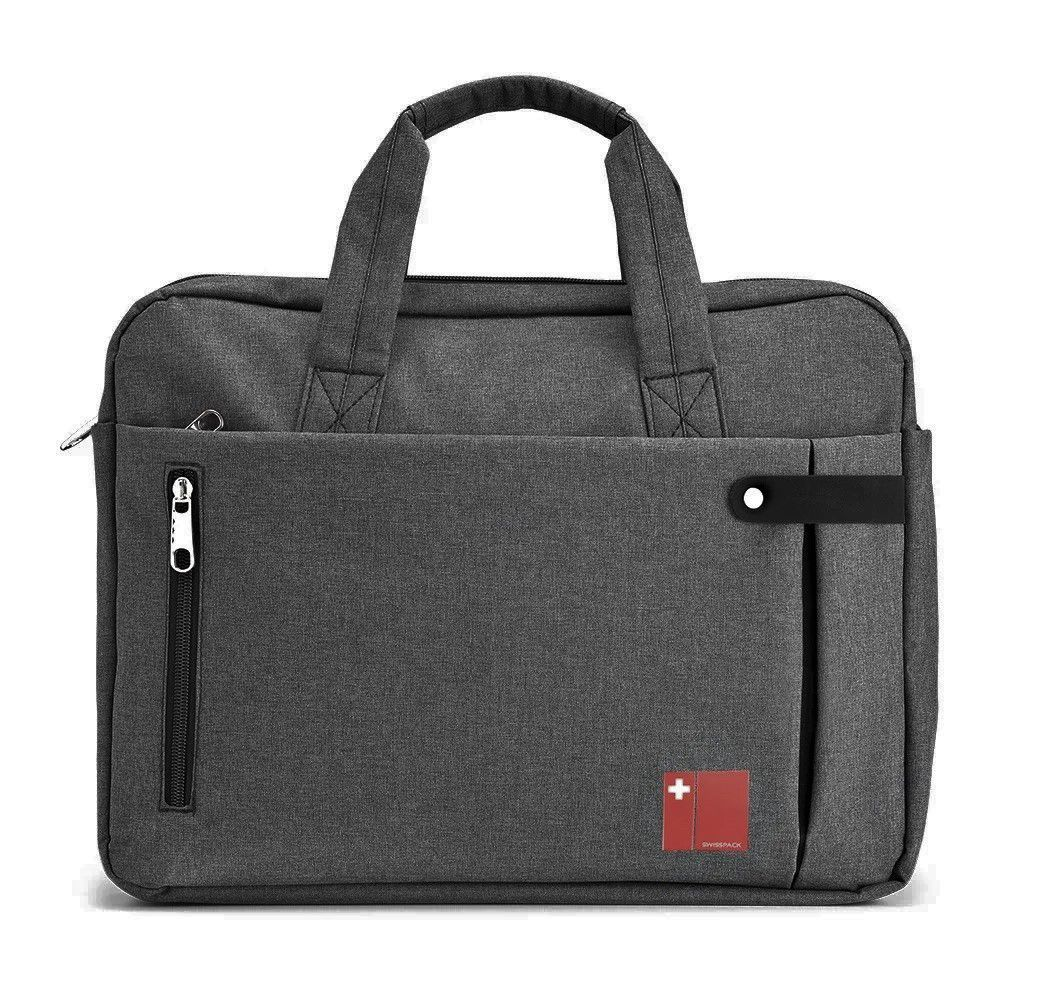 "Pasta executiva para Notebook 14"" Swisspack Multilaser BO417 Cinza  - Mix Eletro"