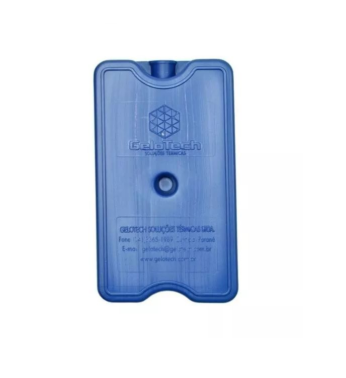 Placa Gelo-x Gel Rígido Reutilizável 500ml 17x10x3cm Gelotech Kit c/ 12 unidades  - Mix Eletro
