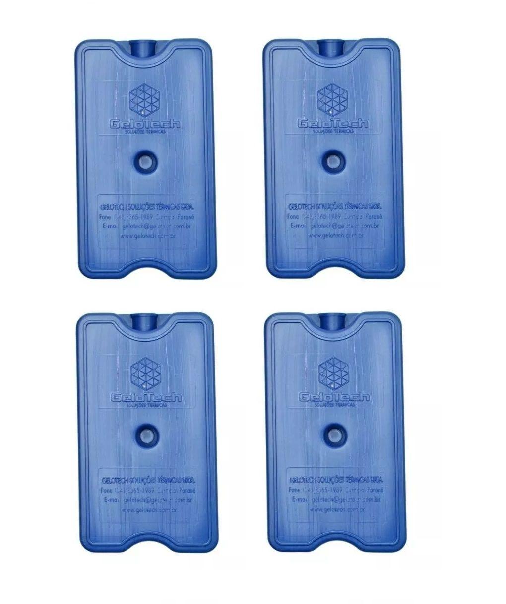 Placa Gelo-x Gel Rígido Reutilizável 500ml 17x10x3cm Gelotech Kit c/ 4 unidades  - Mix Eletro