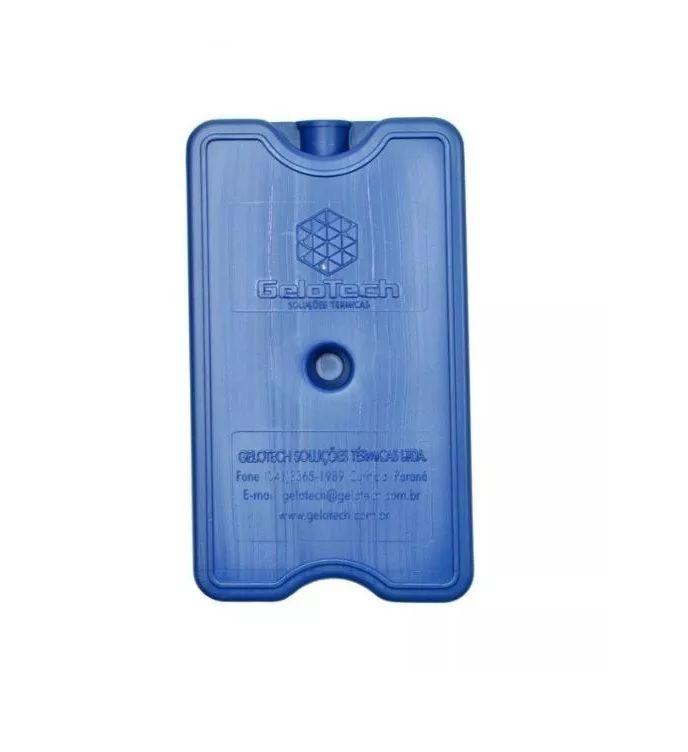 Placa Gelo-x Gel Rígido Reutilizável 500ml 17x10x3cm Gelotech Kit c/ 6 unidades  - Mix Eletro