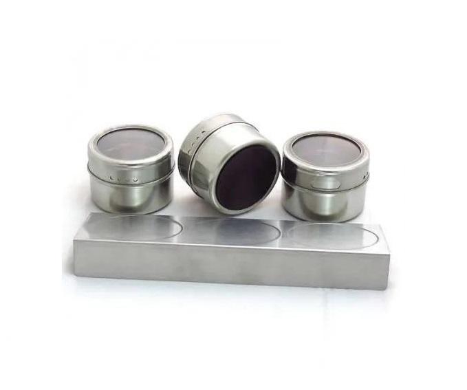 Porta Temperos Magnético 3 potes + suporte aço inox UD575  - Mix Eletro
