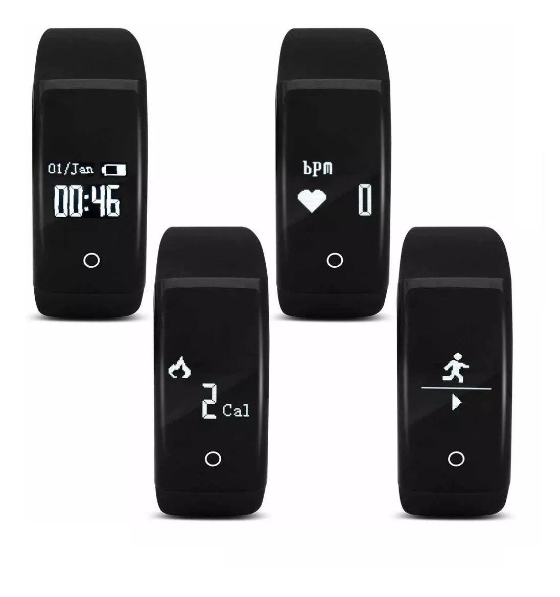 Pulseira Fitness Smart Hearth Bluetooth com Monitor Cardíaco Atrio ES174  - Mix Eletro