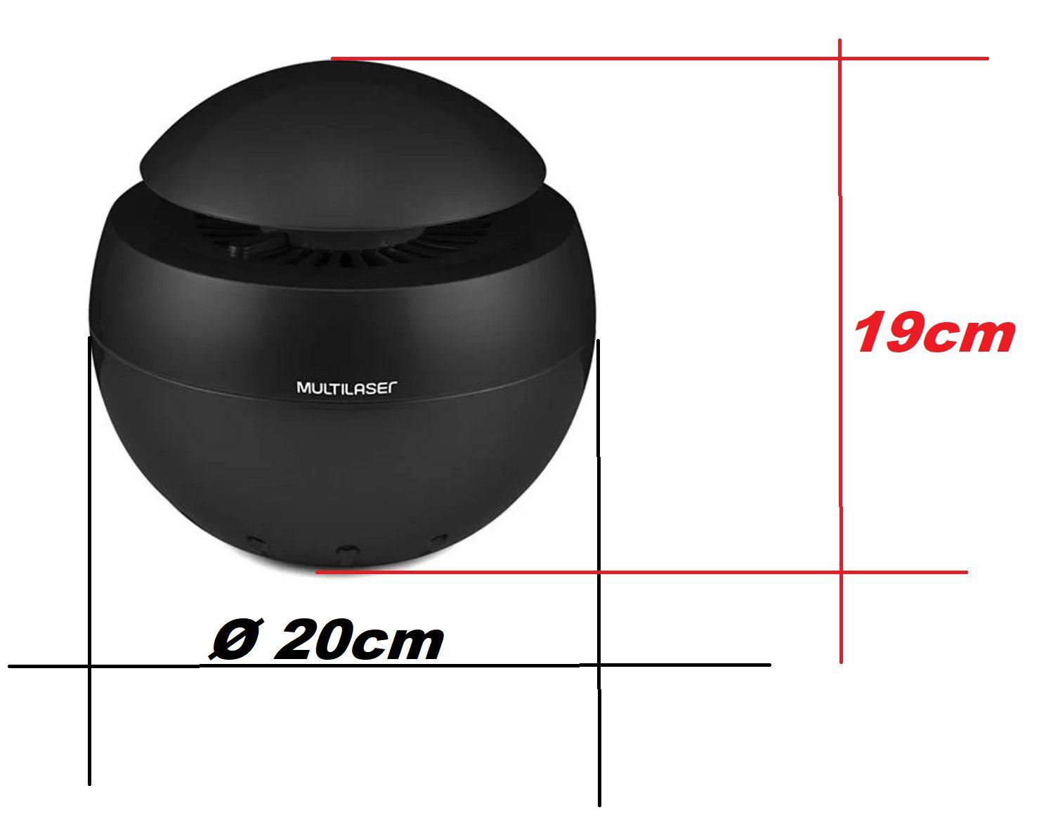 Purificador De Ar Clean Air com aromatizador Multilaser USB Preto HC156  - Mix Eletro