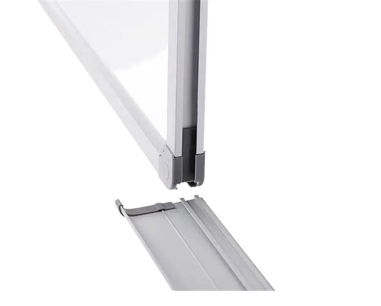 Quadro Branco Magnético 30x40 Moldura e porta apagador Alumínio Keep Qb003  - Mix Eletro