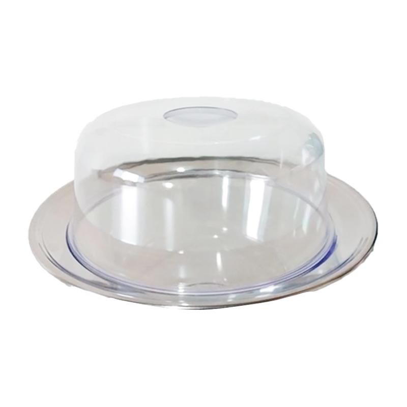 Queijeira prato aço inox e Tampa acrílica 21cm UD239  - Mix Eletro