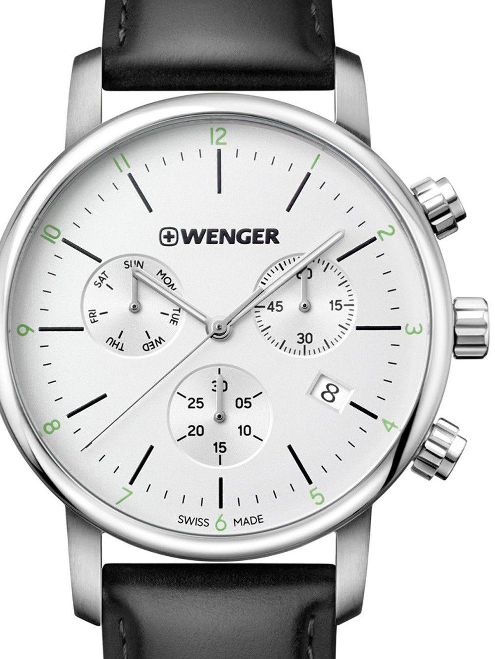 Relógio de Pulso social suíço Wenger Urban Classic Chrono 44mm 01.1743.118  - Mix Eletro