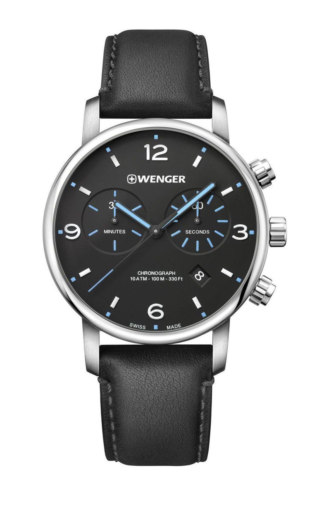 Relógio de Pulso social suíço Wenger Urban Metropolitan Chrono 44mm 01.1743.120  - Mix Eletro