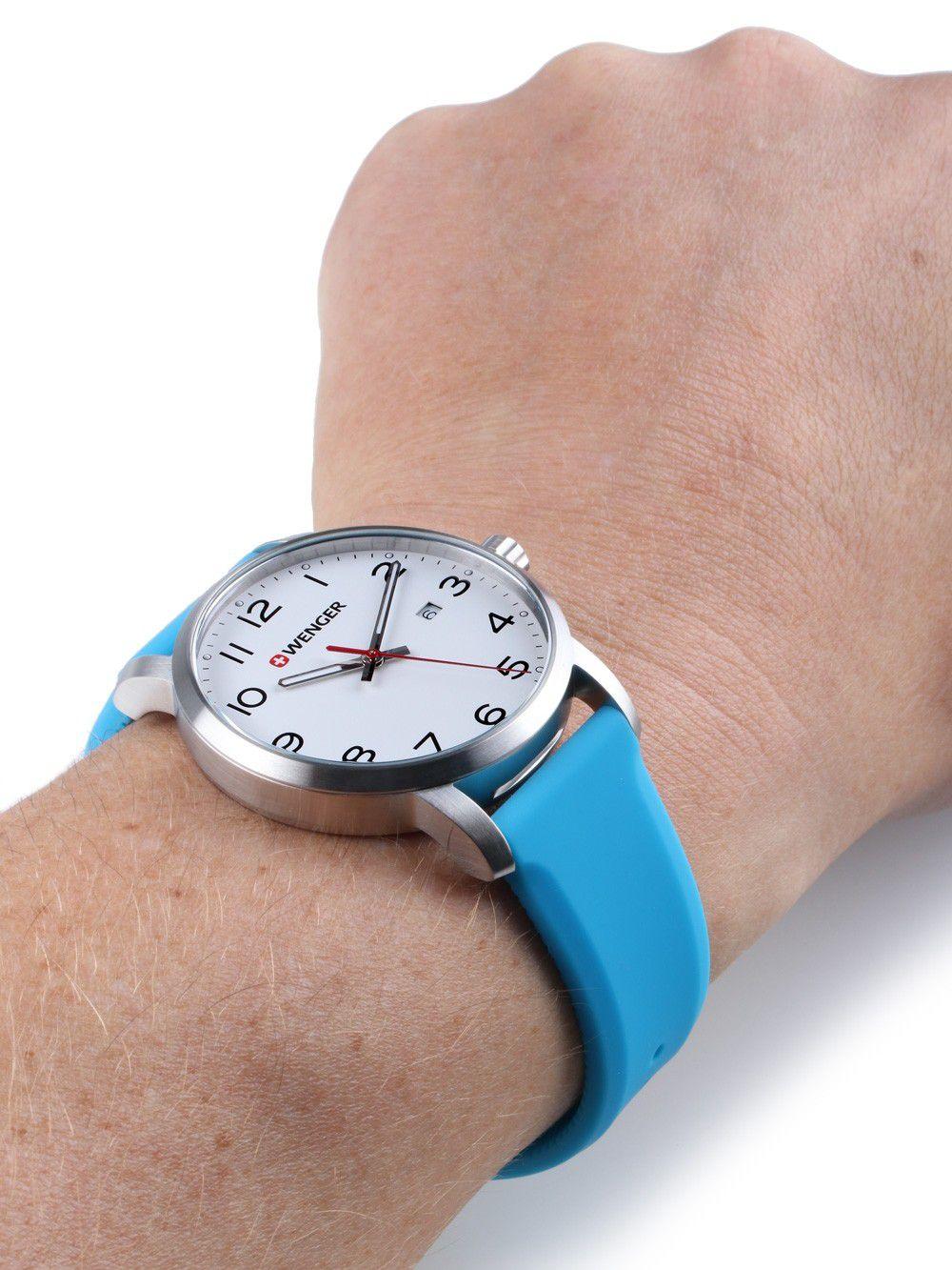 Relógio de Pulso suíço Wenger unissex linha Avenue 42mm 01.1641.109  - Mix Eletro