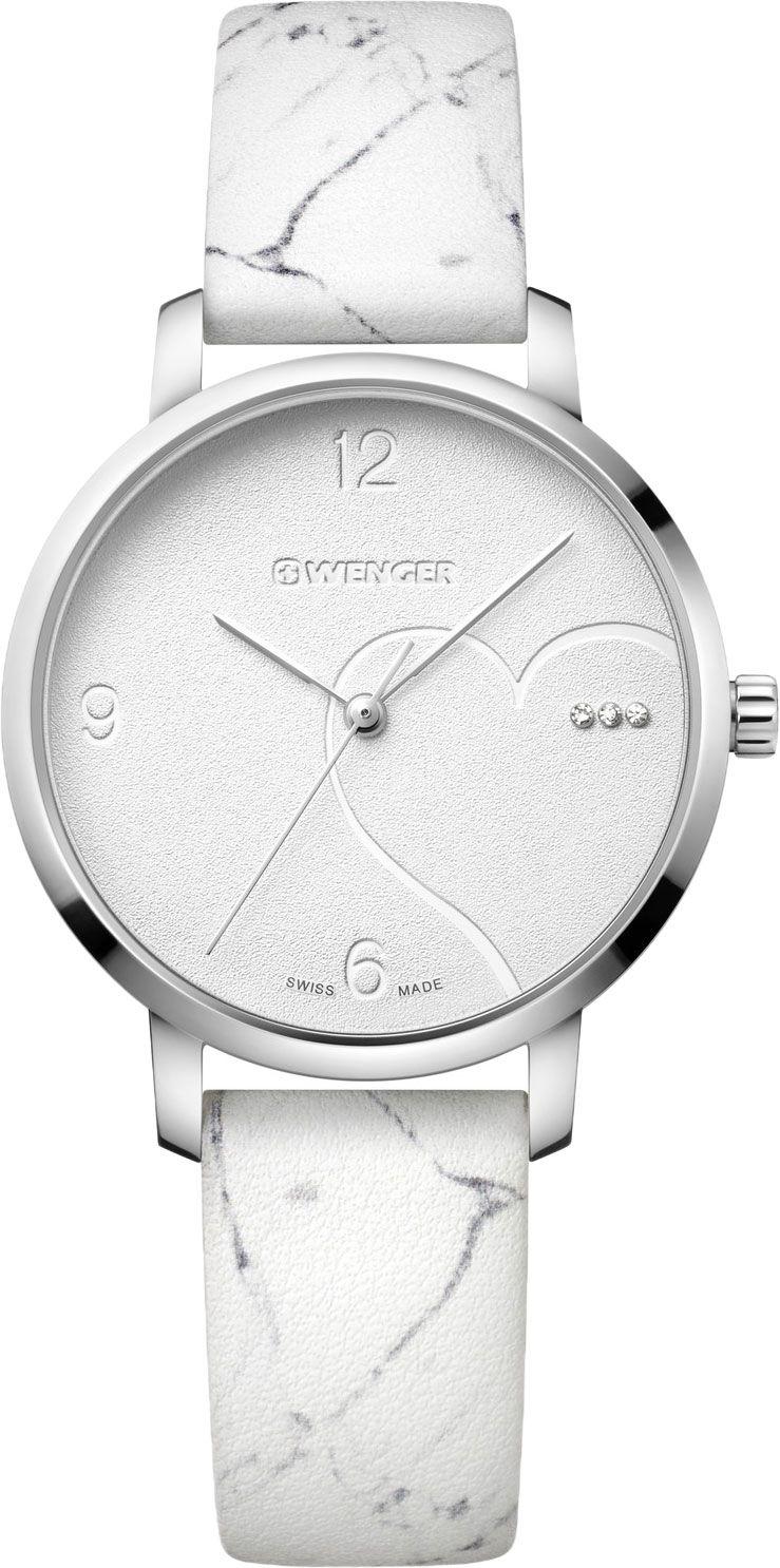 Relógio feminino Suíco Wenger Metropolitan Donnissima branco 01.1731.109  - Mix Eletro