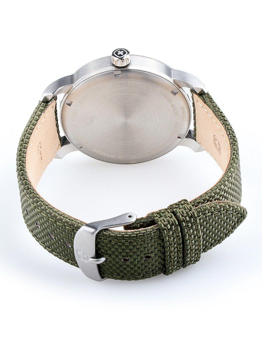 Relógio Masculino Suíço Wenger linha Atitude 42mm verde 01.1541.110  - Mix Eletro