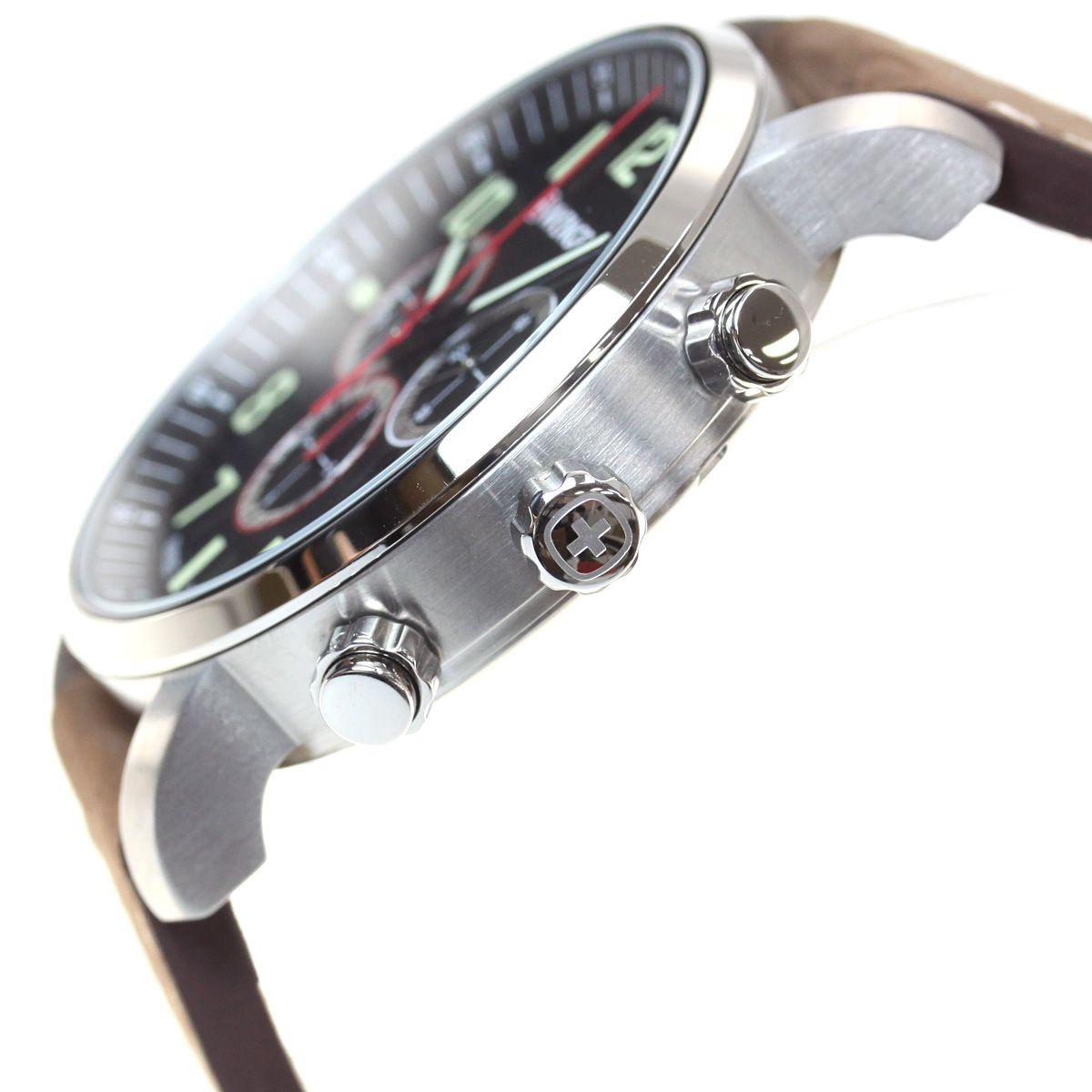 Relógio Masculino Suíço Wenger linha Atitude Chrono 44mm 01.1543.103  - Mix Eletro
