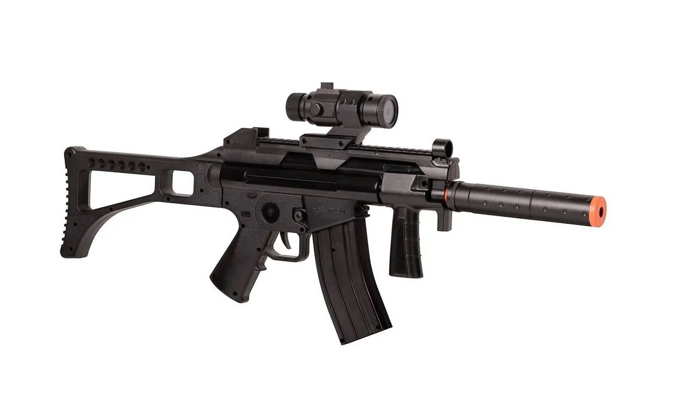Rifle De Airsoft Elétrico Gameface Tac R91 200fps Toy Silencer  - Mix Eletro