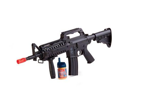 Rifle de Airsoft M4 Spring Stinger R37 350 FPS coronha ajustável Crosman  - Mix Eletro
