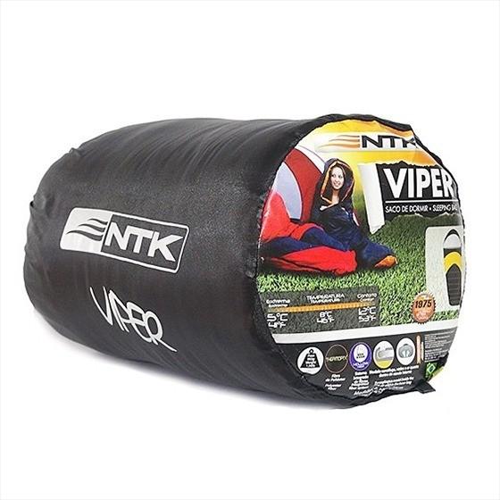 SACO DE DORMIR SOLTEIRO VIPER PRETO/VERDE 5ºC A 12ºC NAUTIKA   - Mix Eletro