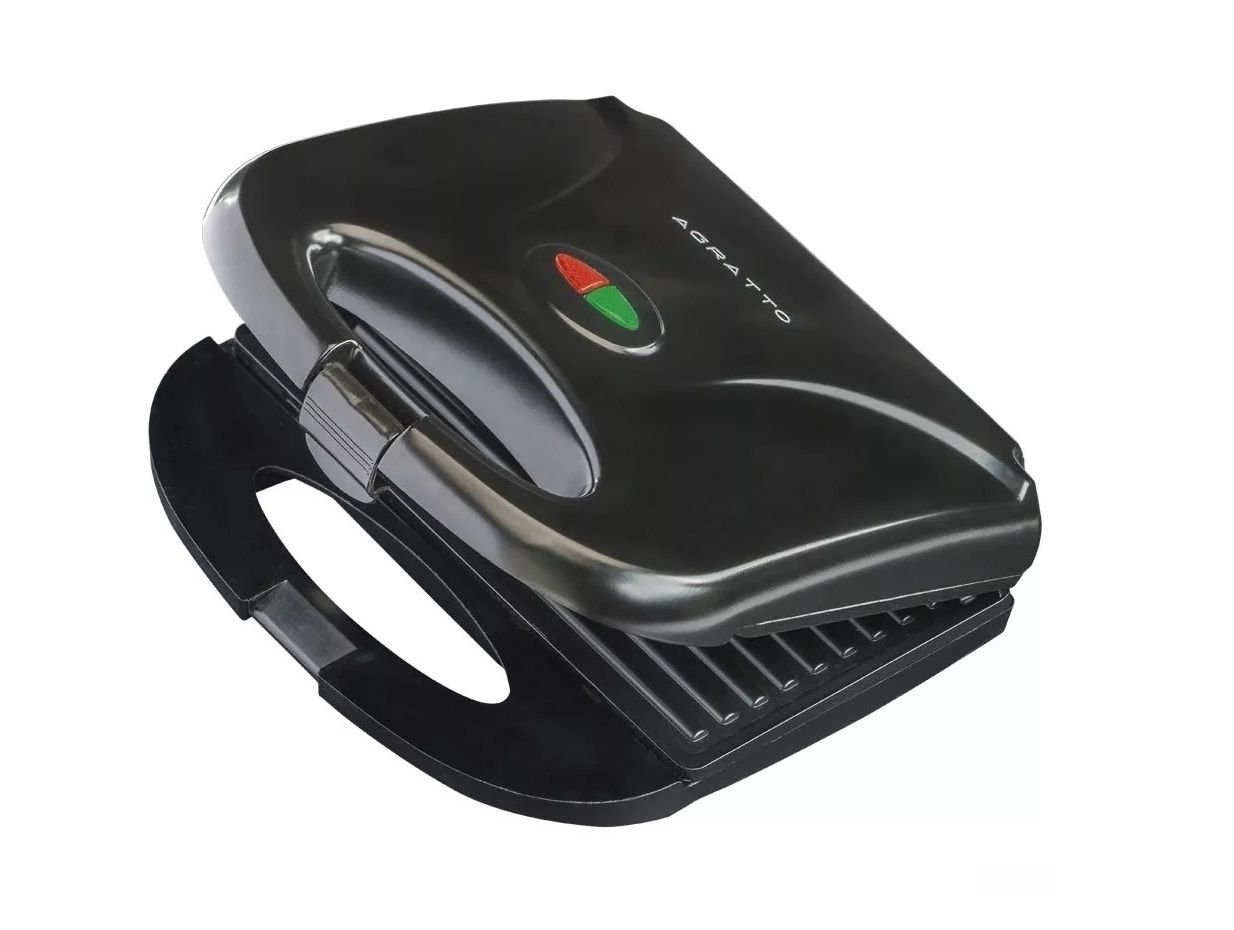 SANDUICHEIRA ESTILO GRILL AGRATTO PRETA SA-01 750W  - Mix Eletro
