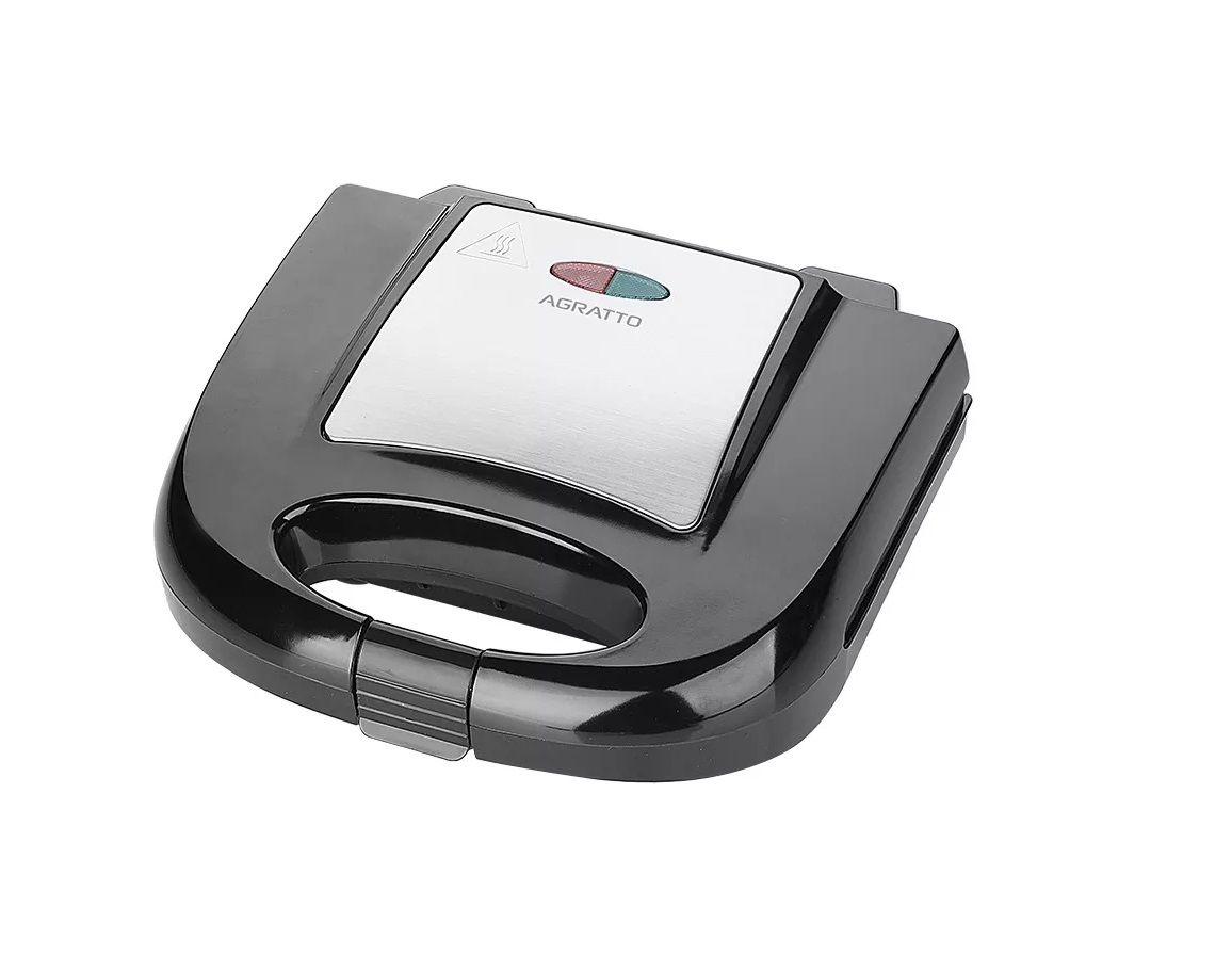 SANDUICHEIRA GRILL INOX 2 AGRATTO SID-01 750W  - Mix Eletro